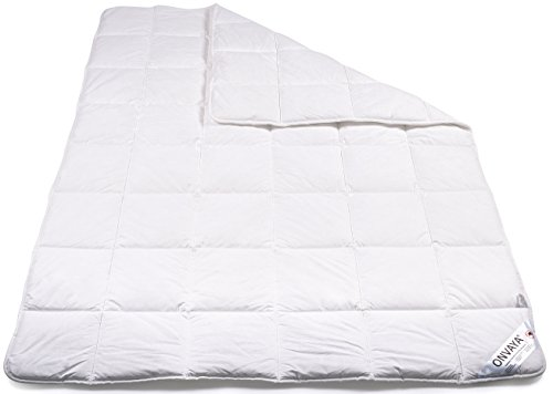ONVAYA Evolon® Premium Allergiker Bettdecke 200 x 200 cm | Hausstauballergie | Milbendicht | Milbenschutz | Antibakteriell | Atmungsaktiv | Made in Germany