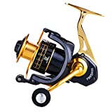 GODNECE Spinnrolle 5.0:1 FBE5000 5.0:1 6+1BB Metall Spinnrolle Angelrolle Spinning Fishing Reel...