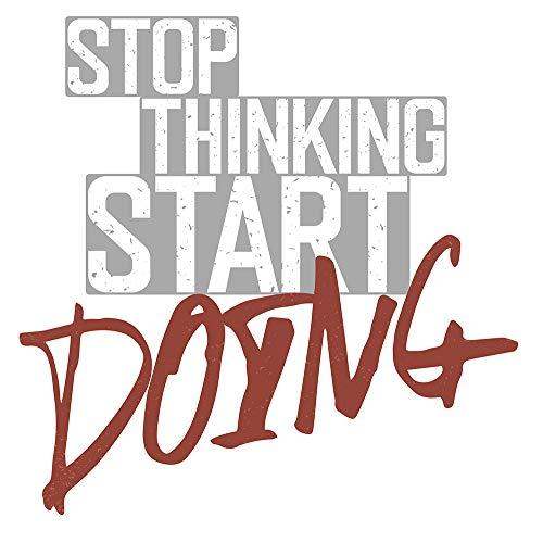 Wandtattoo Fitness Wandsticker Englischer Schriftzug Stop thinking, start doing