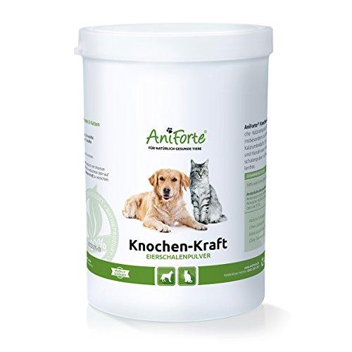 AniForte Knochen-Kraft Eierschalenpulver 1 kg Calcium Knochenaufbau- Naturprodukt für Hunde und Katzen