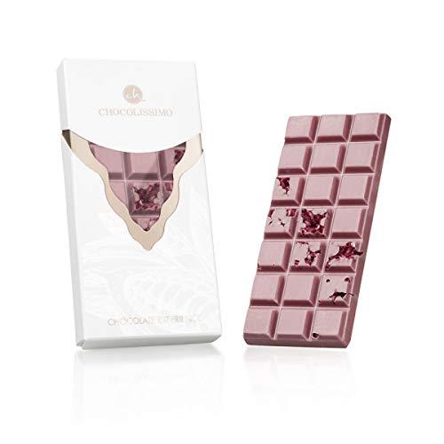 Ruby Experience Raspberry - Tafel Schokolade aus feinster Ruby-Kakaobohne   mit einem feinen Zusatz von Himbeeren   Weltneuheit   Rosa Schokolade   Geschenkidee   Pink Choco   Rosarot Schoko