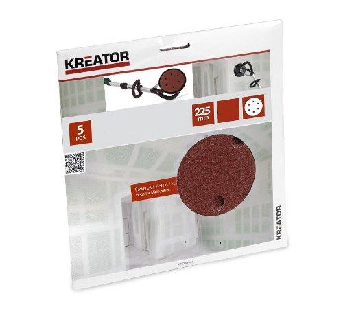 Kreator 03232009Spiel von 5Schleifscheiben für Bandschleifer, Gips Körnung 240
