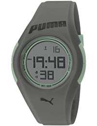 Puma Tonic Unisex Digital Watch with LCD Dial Digital Display and Grey PU Strap PU911191004