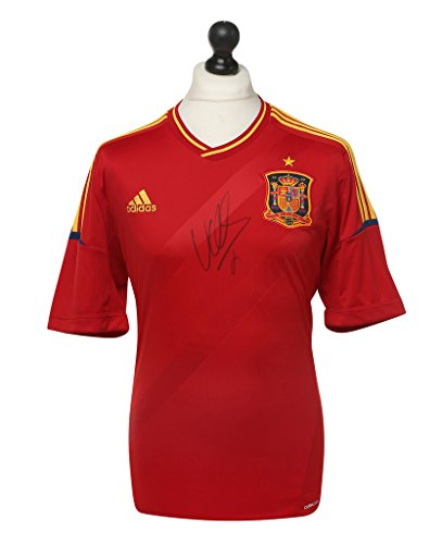 David-Villa-Signed-Spain-Shirt-Autograph-Jersey-Genuine-Memorabilia-COA