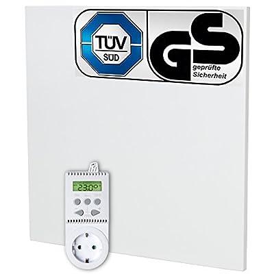 TecTake Infrarotheizung 450 Watt mit Thermostat Elektroheizung Infrarot Heizkörper IR Heizung inkl. Wand- und Deckenhalterung Heizfolie Made in Germany