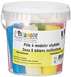 PATAMODE Pâte végétale Non séchante: Seau 8 batons Multicolores, 929029, Voir descriptif