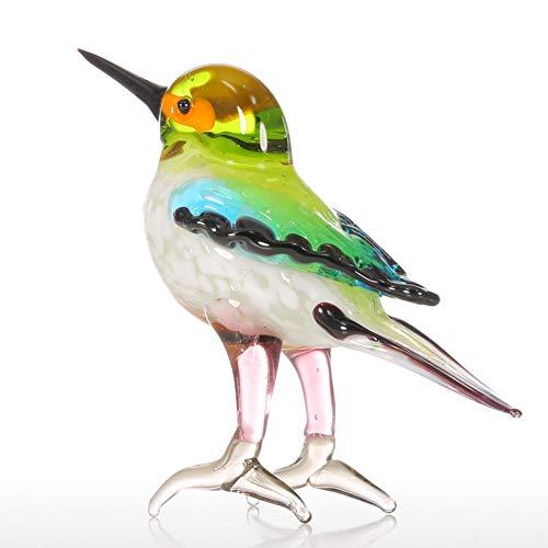 RUHKM Glas Tier Figur Miniatur Figuren mundgeblasen Home Decor Moderne kleine Vögel Dekor Home Decoration Zubehör (Dekor Home Vögel)