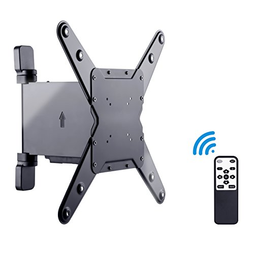Slim Line TV Wall Mount Bracket with Motorised Remote Controller for LED,LCD,Plasma and 3D Tv's, Suitable for Screen Sizes 23 to 42 inch.