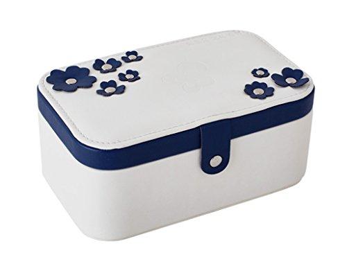 Étui cosmétique HWF Boîtes à Bijoux en Style européen Boîte de Rangement portative Multicouches Organisateur (Couleur : A)