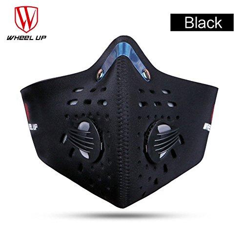 Sturmmaske für Radfahren, Motorrad Colorful(TM) Unisex Winter Schutz PM2.5 Staubdicht Half Face Winddicht Maske Reiten Motorrad (Schwarz)