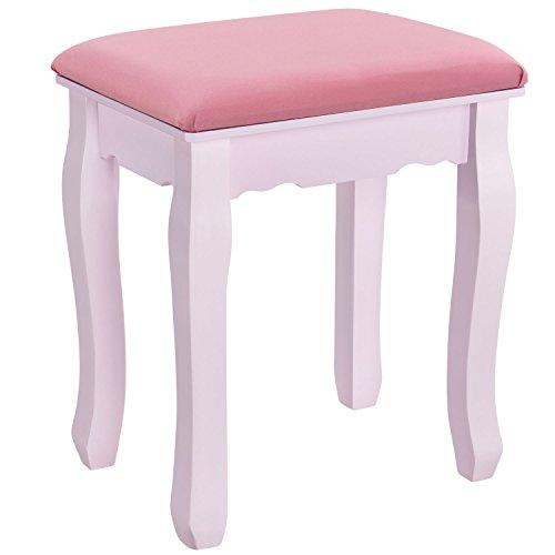 """Schminktisch """"Mira"""" rosa / pink mit Spiegel und Hocker - 6"""