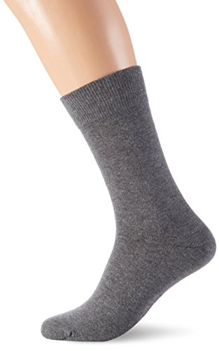 SELECTED HOMME Herren SHD3-Pack Cotton Sock Noos, 3er Pack, Grau (Grey), One size
