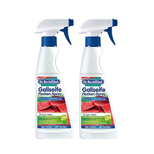 2x Dr. Beckmann Gallseife Flecken-Spray 250 ml - Alle Farben - alle Textilien