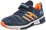 Powtech Unisex-Kinder Tennisschuhe Laufschuhe Leicht Komfortable Turnschuhe Sneaker(CN28, 861-Orange blau)