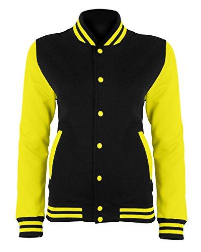 JH044 Electric Varsity Jacket Sweatjacke Unisex Damen Herren Jacke