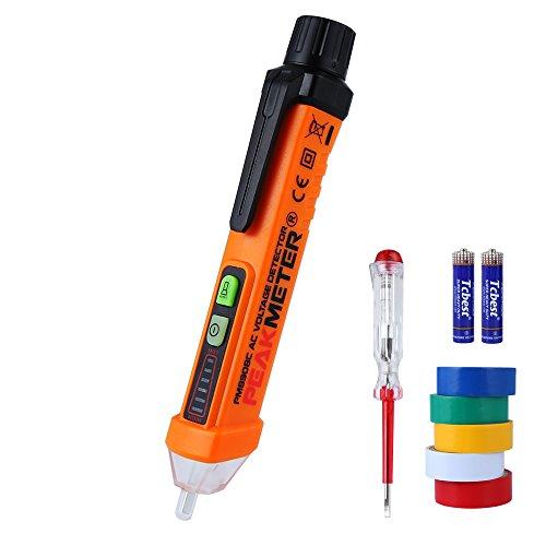 Berührungsloser Spannungsprüfer, Vegbirt Digital Spannungstester Detektor Durchgangsprüfer Stromprüfer Strom Detektor pannung Messgerät mit LED-Taschenlampe 12V-1000V