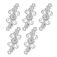 TiaoBug 5 Pairs Retro Chrysanthemum Flowers Design Cape or Cloak Clasp Decorative Sew On Hooks and Eyes Cardigan Clip Sweater Shawl Clip Fasteners