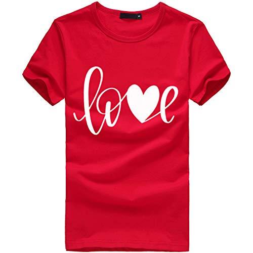 (Oyedens Love Drucken The Perfect Tee T Shirt Mädchen Damen White Schwarz Rosa Blau Sport T-Shirt Running Fitness Shirts Sportbekleidung Kurzarm Oberteile)