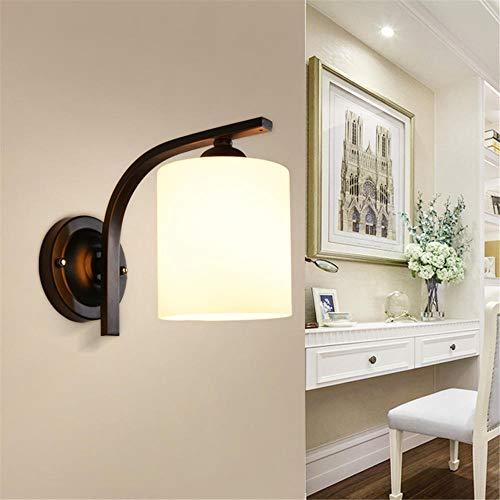 LED Wandleuchten Modern Wandlampen Aluminium Waterproof Wall Lamp Kreative minimalistische für Innen Badezimmer Wohnzimmer, Schlafzimmer, Bad, Flur, Balkon/Schwarz_Weißes Licht
