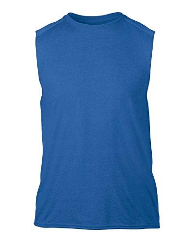 Gildan-Maglietta performance Maglietta senza maniche da uomo Blu