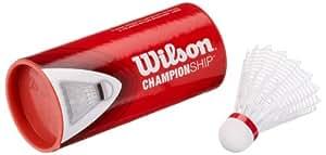 Wilson Badminton Nylon Federbälle Championship 3er Dose 79 (fast) whi, weiss