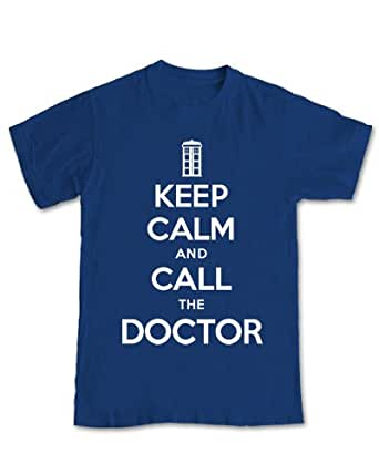 Keep Calm and Call The Doctor 'Dr Who' T-shirt (M - Medium)