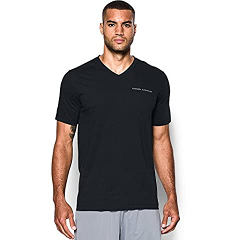 Under Armour Mens Charged Cotton Wicking V Neck Short Sleeve T Shirt