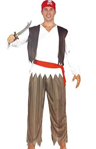 5 Kostüm Pirat Teilig - Black Cat Pirat Herren Karneval Kostüm 5 teilig Fasching Verkleidung Schwert Seeräuber One size S-M-L