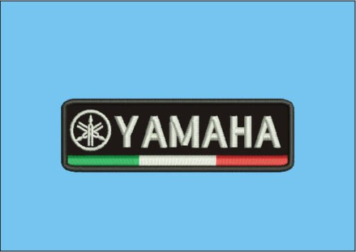 Patch Yamaha Logo diapasón Bandera V2cm 10x 3parche bordado bordado Moto -661