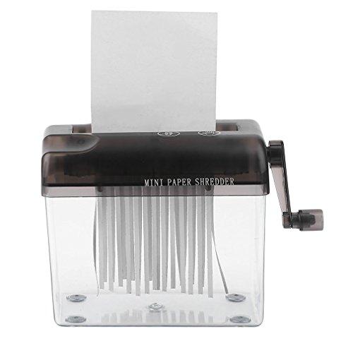 Bemodst® Mini-destructeur de documents à fonctionnement manuel Accessoire pratique à placer sur son bureau Pour papier de format A4, factures