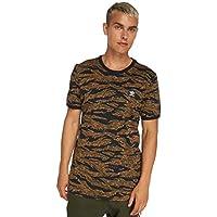 Adidas AOP Camiseta, Hombre, Verde (Camo Print), S