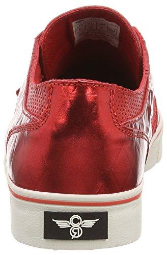 Creative Recreation - Cesario Lo Xvi, Sneaker basse Uomo Rosso (Red (Red Mesh/Brown Diamond))