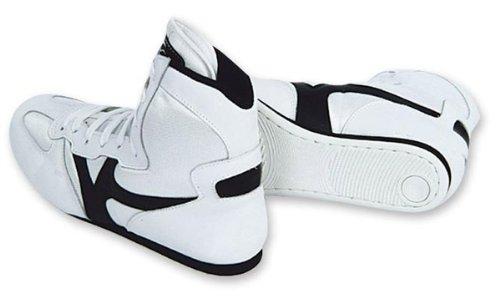 M.A.R International Ltd Wrestling Schuhe Stiefel Training Schuhe Gym Sparring Gear Mehrfarbig weiß / schwarz 45 - Schuhe Boxing Weiß
