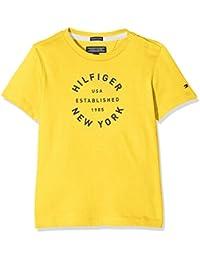 Tommy Hilfiger Ame Big Logo Cn Tee S/S, Camiseta para Niños