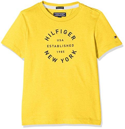 Tommy Hilfiger Jungen Ame Big Logo Cn Tee S/s T-Shirt, Gelb (Super Lemon), 5 Jahre (Herstellergröße: 5) (Tee Logo S/s Big)