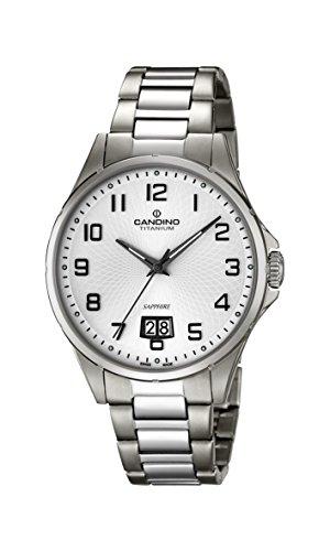 Candino Mens Analogue Classic Quartz Watch with Titanium Strap C4607/1