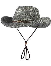 Sombrero De Vaquero Sombrero Occidental Unisex Sombrero Adulto para Fashion  Mujer Hombre Sombrero De Paja Verano c12827745d4