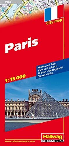 City-Map Paris 1 : 15 000: Großraum Paris. U-Bahn. Index. (Hallwag Stadtpläne)