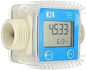 Tradico® K24 Bule Turbine Digital Diesel Fuel Flow Meter For Chemicals Water
