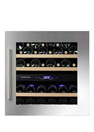 Dunavox - 'DAB-36.80DSS', Weintemperierschrank für 36 Flaschen, 2 Zonen, 5 - 22°C, Einaugerät