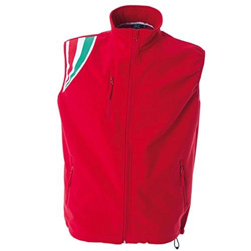 Giubbino da Lavoro Smanicato Gilet Softshell Impermeabile Sportivo JRC Livigno Rosso