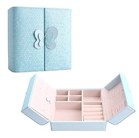 Hochwertige Reise-Schmuckschatulle aus Leder, Aufbewahrungsbox für Ringe, Ohrringe, Halsketten, als
