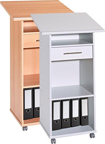 VCM Stehpult Rednerpult Laptoptisch Lesepult Schreibpult Stehtisch Tisch Pult Omegos Metallgriffe,...