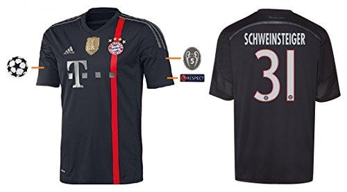 Trikot FC Bayern 2014-2015 Third UCL - Schweinsteiger 31 (M)