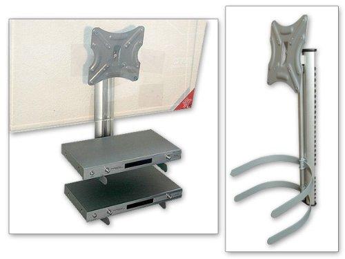 Supporto con Montaggio a parete in Alluminio 2 Ripiani, Regolabile
