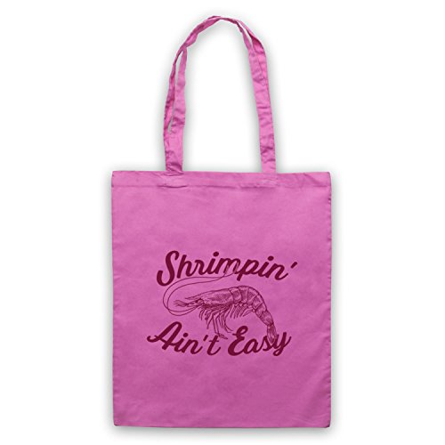 Shrimpin' Ain't Easy Shrimp Parody Slogan Umhangetaschen Rosa