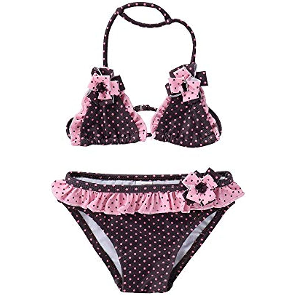 7819a9266 IPBEN Conjuntos bebé Bañador bebé Bañadores de Verano para Niñas Tassel  Conjunto de Bikini Traje de Baño de Nylon para Chicas 3 Años -12 Años  Amlaiworld