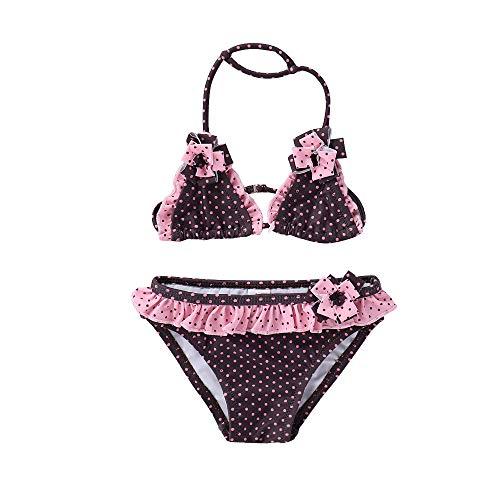 IPBEN Kleinkinder Baby Mädchen Quaste Badekleidung Schwimmanzug Bikini Sets, Gr.-1-2 Jahre/ Etikettengröße- 92, Marine