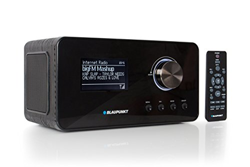 Blaupunkt IRD 30 Internetradio- DAB+-Radio - Digitalradio mit Radiowecker - Wlan Küchenradio- Digital-Radio als Badradio - DAB - UKW-Tuner - Miniradio in Retro-Design - Uhrenradio, Schwarz
