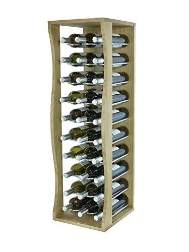 Expovinalia Botellero de Pie Capacidad 30 Botellas, Madera, Marrón, 32x36x105 cm